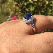 Vintage natural royal blue