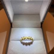 Yellow Diamond Oval Band