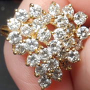 Heart shaped diamond cluster