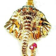 14K GANESHA~GOOD FORTUNE~DIAMOND &