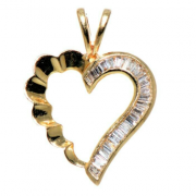 14K GOLD HEART SHAPED