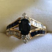 Ladies Sapphire/Diamond 14KT Gold
