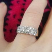 White Gold Ring for