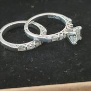 Tacori wedding band/engagement set