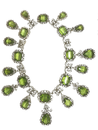 19th Century Peridot and Diamond Necklace