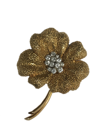 Van Cleef & Arpels Gold and Diamond Flower Pin