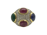 David Webb Diamond and Gemstone Ring
