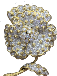 Magnificent Diamond Flower Pin
