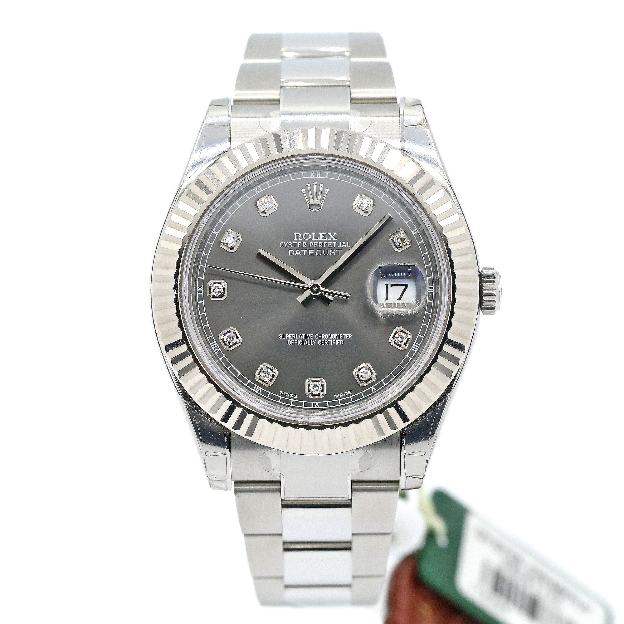 3abb1e324c2 Rolex Datejust II 41mm Stainless Steel Ref# 116334 Rhodium Diamond Dial | I  Do Now I Don't